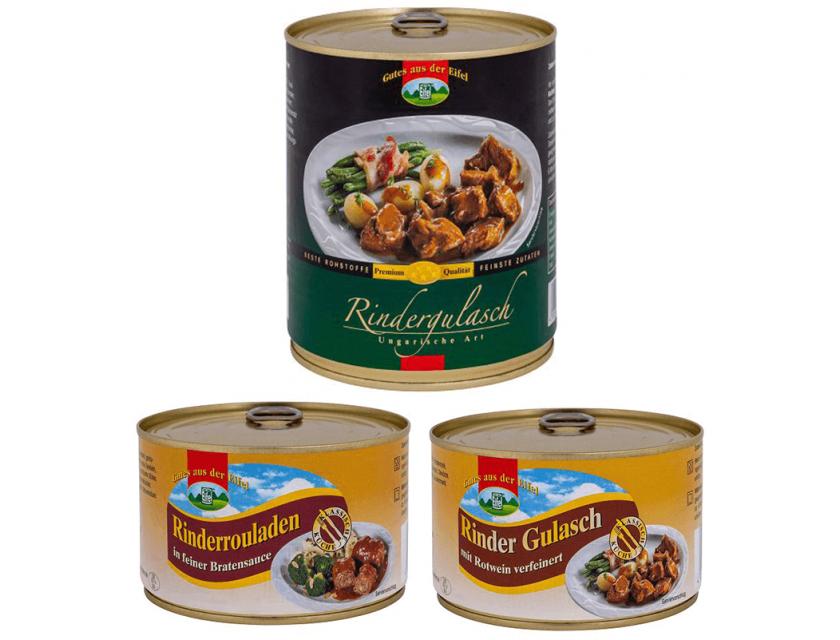 Set: 3er Rindfleisch Paket 1,6 kg, 3 Sorten