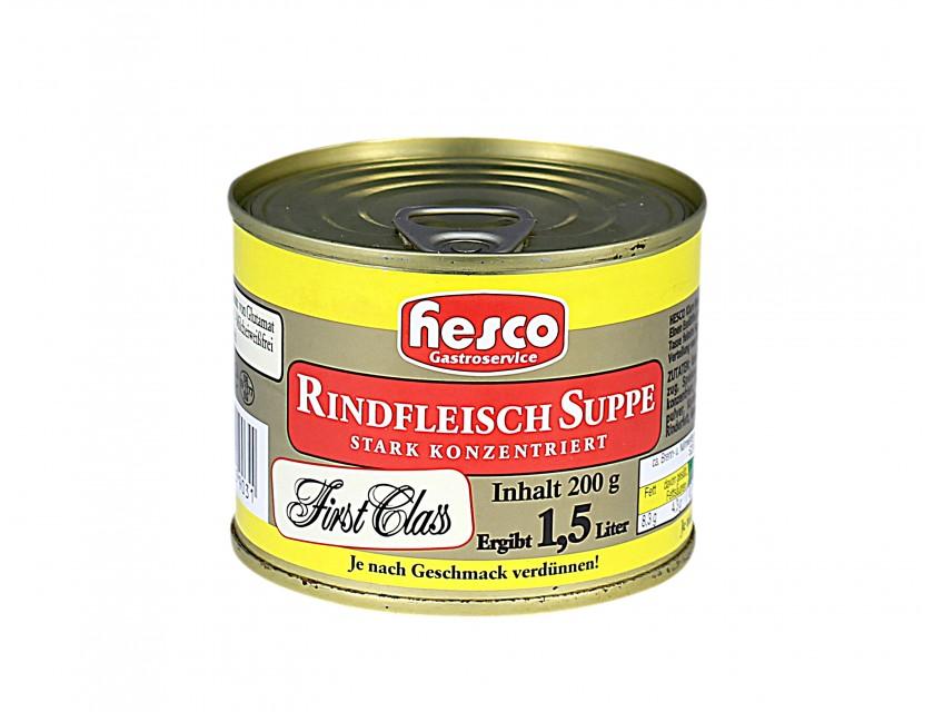 Hesco Rindfleisch Suppe 1:6 konz., 212 ml.