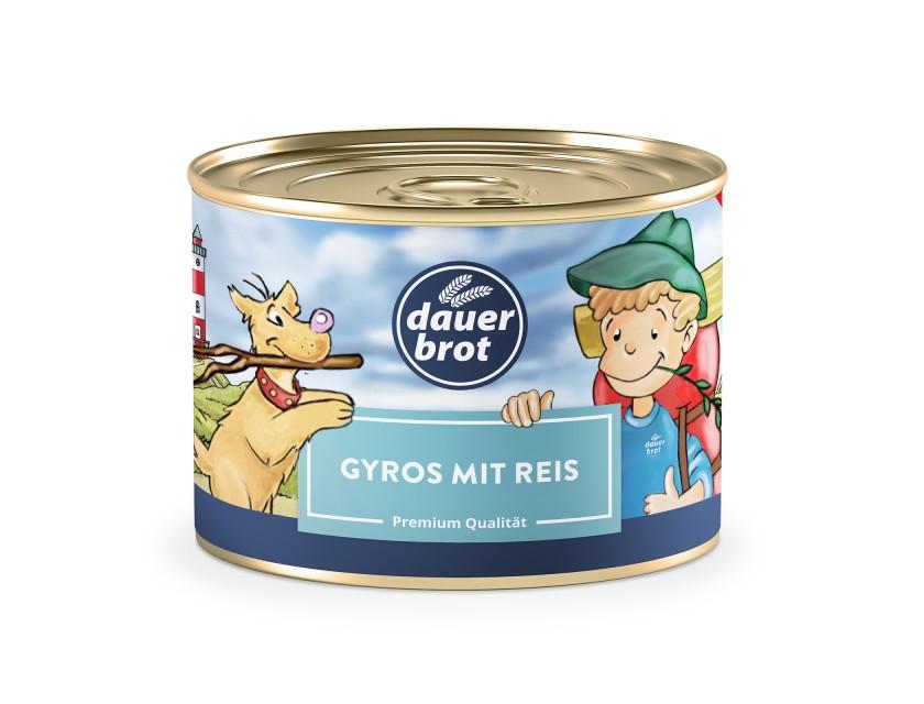 12x Gyros mit Reis 400g dauerbrot