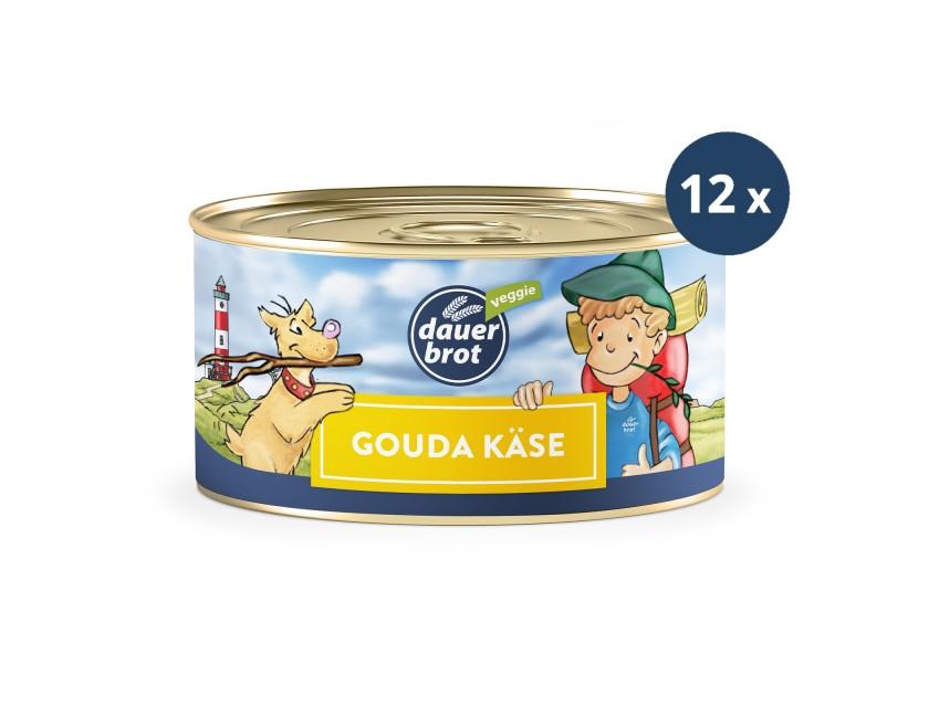 12x Gouda Käse 200g dauerbrot