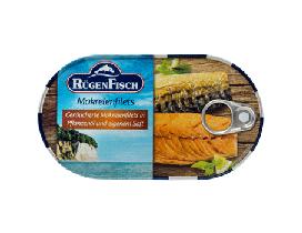 Makrelenfilets geräuchert in Pflanzenöl und eigenem Saft 200g