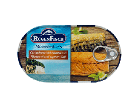 5x Makrelenfilets geräuchert in Pflanzenöl und eigenem Saft 200g